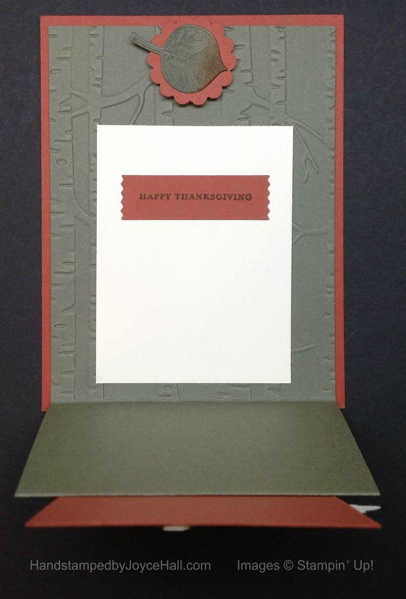 Vintage Leaves Easel Card Inside with Watermark