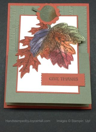 Vintage Leaves Easel Card with Watermark