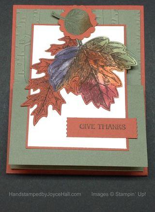 Vintage Leaves Easel Card with Watermark